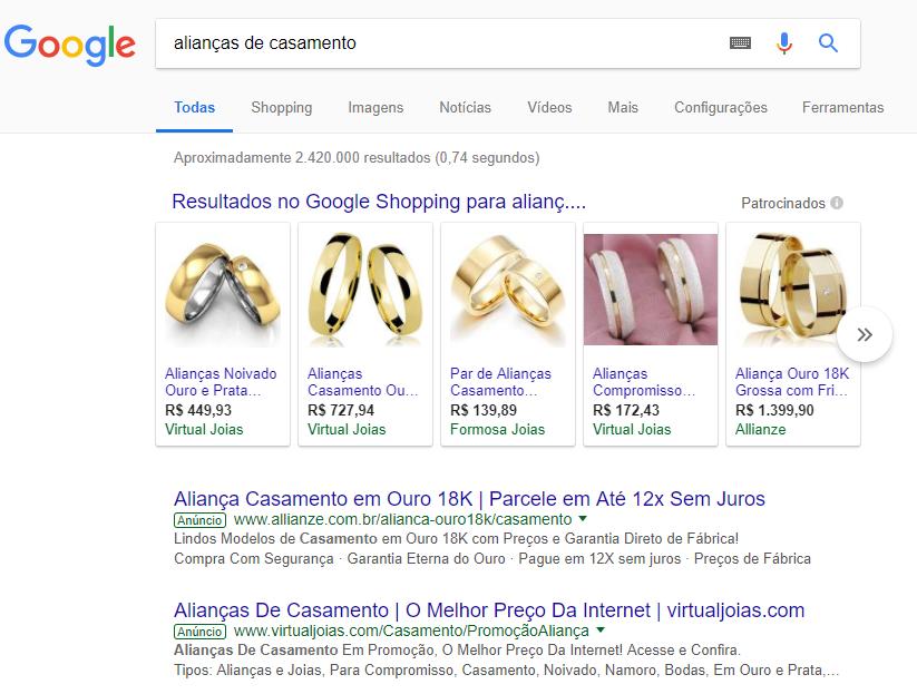 anuncio de venda de joias